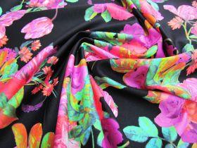 Bougainvillea Floral Spandex- Black