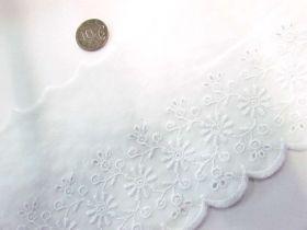 12cm Daisy Dreams Broderie Trim- White