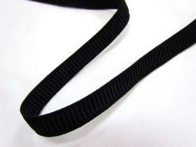 12mm Ribbed Elastic- Black