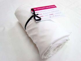 1m Precut Shiny Lycra Mini Roll- White