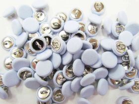 2 for $1.00 Fabric Covered Fashion Buttons- Pale Blue FB092