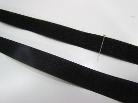 20mm Sew On Hook & Loop Fastener- Black