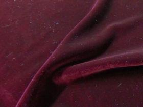 2way Stretch Velvet- Burgundy