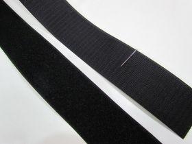 50mm- Hook & Loop Fastener- Sew On- Black #012145