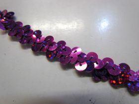 Holographic- Stretch Sequin Trim- 1 Row- Purple