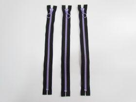 35cm Chunky Zipper Bundle- Purple / Black- 3 for $6