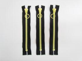 18cm Chunky Zipper Bundle- Yellow / Black- 3 for $6