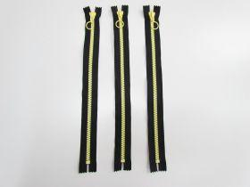 35cm Chunky Zipper Bundle- Yellow / Black- 3 for $6