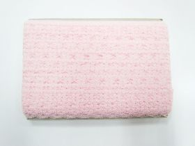 47m card of Dainty Blossom Lace Trim- Pink