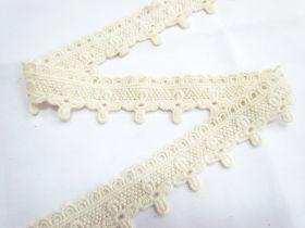 Soft Vintage Flower Cross Lace- Natural