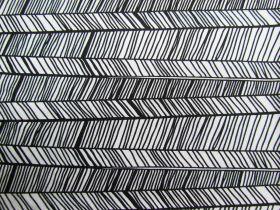 Scribble Stripe Cotton #4734