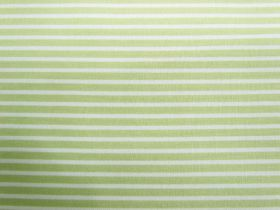 Fresh Stripes Cotton- Pale Lime #PW1143
