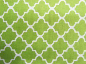 Quatrefoil Cotton- Lime #PW1130