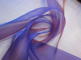 Shot Crystal Organza- Red Royal Purple