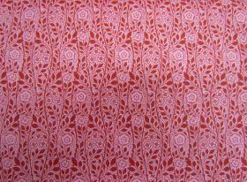 Liberty Cotton- Merton Rose- 5902E- The Emporium Collection- Red