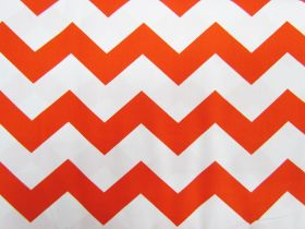 Chevron Cotton- Orange #2797