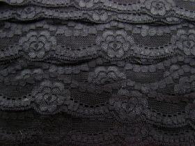 Lotus Love Stretch Lace Trim- Black
