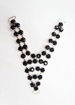 Diamante Rhinestone Trim Insert- Black