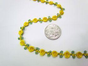 Rosette Chain Trim- Daffodil