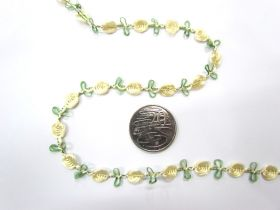 Rosette Chain Trim- Lemon