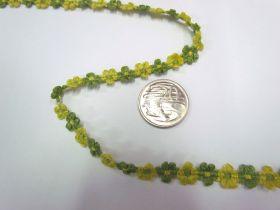 Ribbon Floral Trim- Citrus