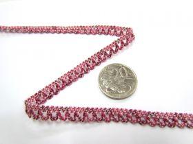 Baby Ripple Stretch Trim- Raspberry
