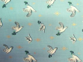 Ruby Star Society Cotton- Candlelight- Doves- Water 35-14M