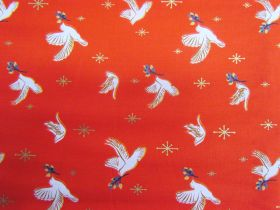 Ruby Star Society Cotton- Candlelight- Doves- Poinsettia 35-15M