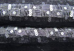 Fine Lines Soft Mesh Trim- Black