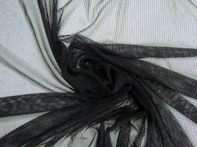2-Way Stretch Fishnet Mesh- Black #4809