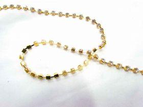 4mm Diamante Trim- Gold