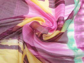 Painter's Batik Silk Chiffon 65cm Panel  #2872