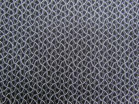 Black & White Cotton- Dizzy Spot #0157-590
