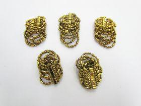 Gold Beaded Embellishments- RW236- 5 for $3