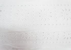 85mm Sunny Girl Broderie Anglaise Trim- White #229