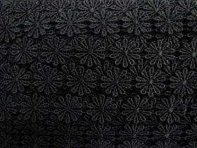 25mm Flower Power Lace Trim- Black #230