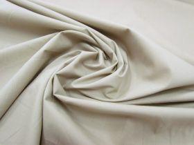 Designer Stretch Cotton Poplin- Light Khaki Beige