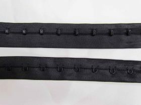25mm Continuous Hook & Eye Tape- Black on Black