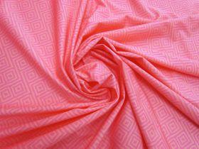 Dazed Maze Lightweight Spandex- Pink #4891