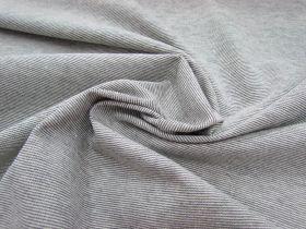 Thin Knit Stripe Jersey- Cream/Black #3909