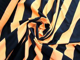 Zesty Orange Stripe Spandex #4895