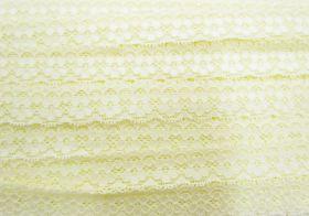 25mm Stella Stretch Lace Trim- Butter Yellow #242