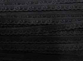 12mm Itsy Bitsy Stretch Lace Trim- Black #245