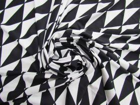 Chic Geo Lightweight Spandex- Black/White #4897