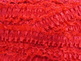 50mm Lace Garter Elastic Trim- Red #254