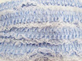 50mm Lace Garter Elastic Trim- Blue #252