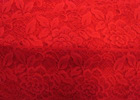 85mm Rose Floral Lace Trim- Red #258
