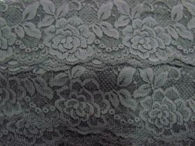 85mm Rose Floral Lace Trim-  Grey #257