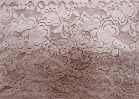 85mm Giselle Stretch Floral Lace Trim- Dusty Rose #261
