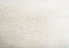 55mm Josephine Stretch Floral Lace Trim- Cream #270